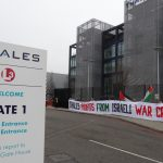 Protest at Thales arms factory in Crawley as part of national action against Israeli arms giant Elbit