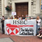 "Local people tell HSBC Bank: ""Stop Banking on Apartheid!"""